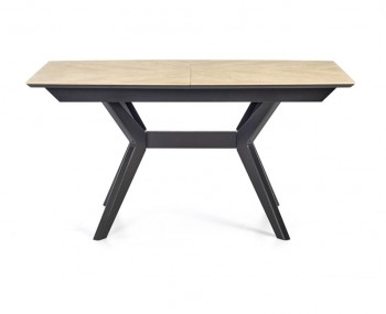 Bridget Oak & Gunmetal Extending Dining Table