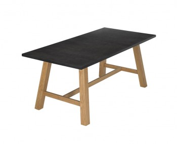 Brookin Black and Oak Dining Table