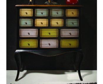 Grand Multicoloured 14 Drawer Sideboard