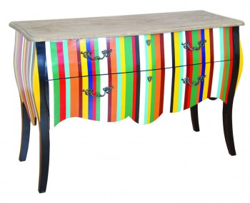 Grand Multicoloured 2 Drawer Sideboard