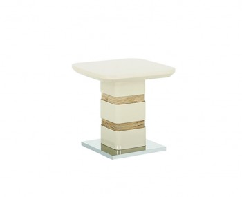 Zuri Champagne High Gloss Lamp Table