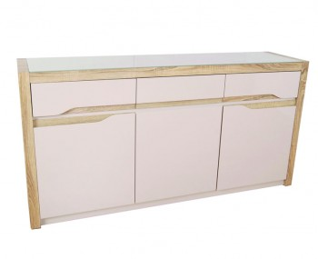 Zuri Champagne High Gloss 3 Door Sideboard