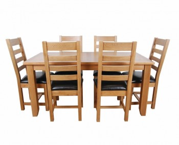 Scotay Light Oak Dining Table and Chairs