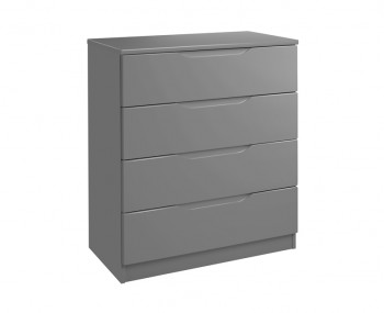 Sabron 4 Drawer Dust Grey High Gloss Chest
