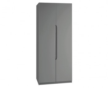 Sabron 2 Door Tall Dust Grey High Gloss Wardrobe