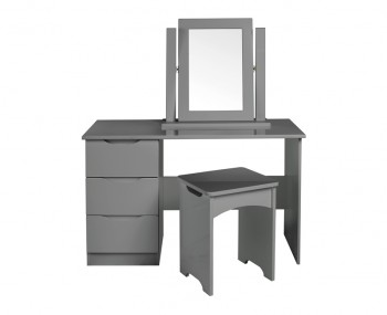 Sabron Single Dust Grey High Gloss Dressing Table