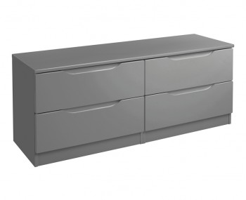 Sabron 4 Drawer Bed Box Dust Grey High Gloss Chest