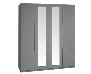 Sabron 4 Door Tall Dust Grey High Gloss Wardrobe