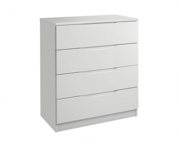 Warren Light Grey 4 Drawer High Gloss Chest