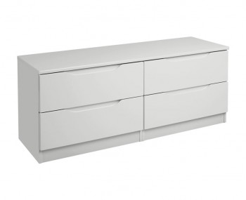 Warren Light Grey 4 Drawer High Gloss Bed Box Chest