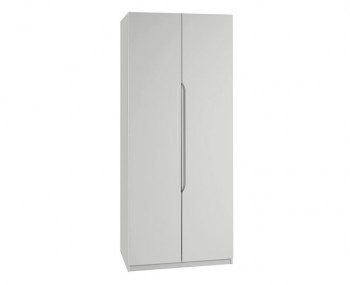Warren Light Grey 2 Door Tall High Gloss Wardrobe