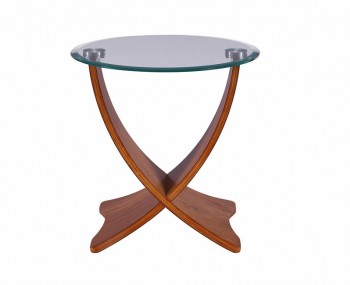 Sinae Walnut and Glass Lamp Table