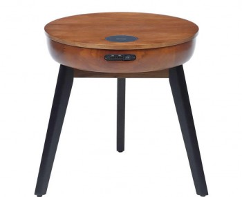 San Francisco Walnut Smart Lamp Table