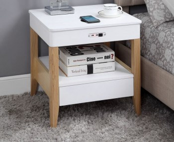 San Francisco Smart Two-Tone Nightstand With Speakers