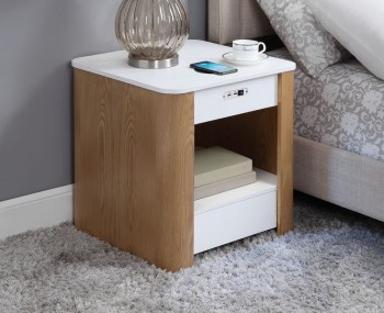 San Francisco Oak Smart Bedside Table
