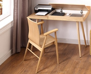 San Francisco Oak Storage Office Desk