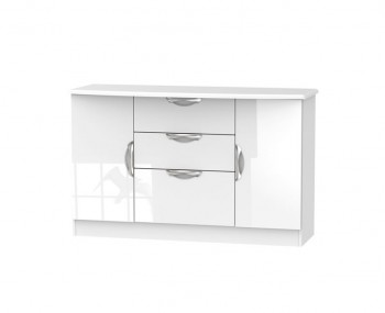 Halifax White High Gloss 2 Door 3 Drawer Sideboards