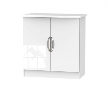 Halifax White High Gloss 2 Door Sideboard