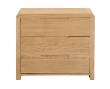 Curve Oak 3 Drawer Chest