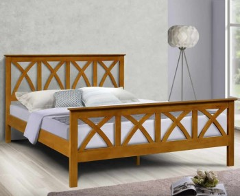 Mellington Oak Wooden Bed