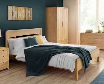 Curve Oak Bed Frame