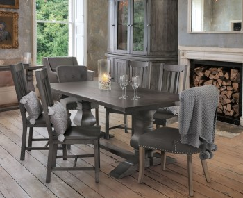 Edie Rectangular Dark Wooden Dining Set