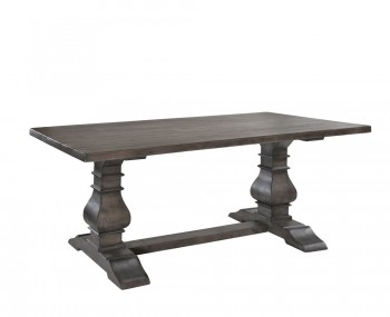Edie Rectangular Dark Wooden Dining Table