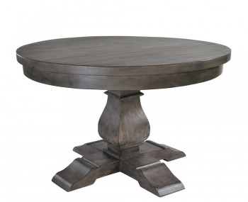 Edie Round Dark Wooden Dining Table
