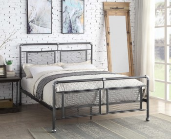 Hope Black & Silver Metal Bed Frame