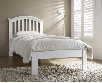 Lloyd White Wooden Bed Frame