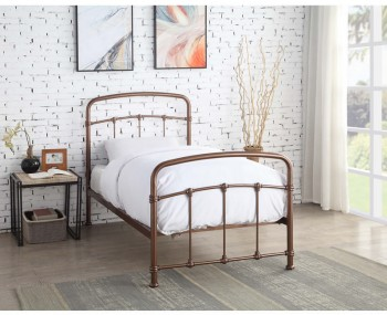 Manford Rose Gold Bed Frame