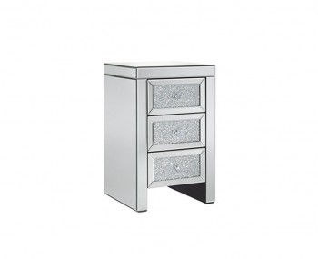 Vienna Mirrored 3 Drawer Bedside Chest