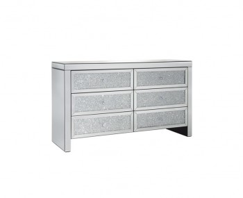 Vienna Mirrored 6 Drawer Wide Chest