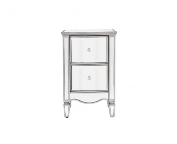 Elysee Mirrored 2 Drawer Bedside Chest