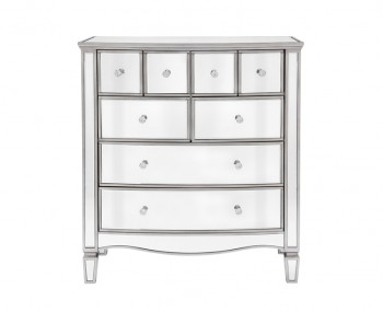 Elysee Wide Mirrored 8 Drawer Chest