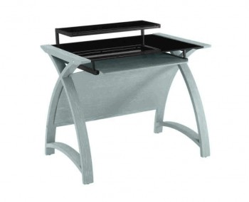 Penzance Grey and Glass Computer Desk