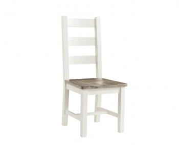 Santorini Solid Pine Hand Painted Dining Ladderback Chair