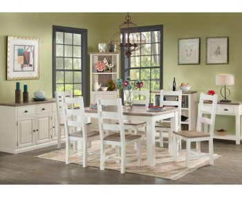 Santorini Solid Pine Hand Painted 120cm Dining Set