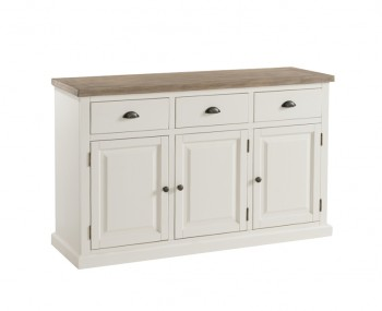 Santorini Solid Pine Hand Painted 3 Door Sideboard