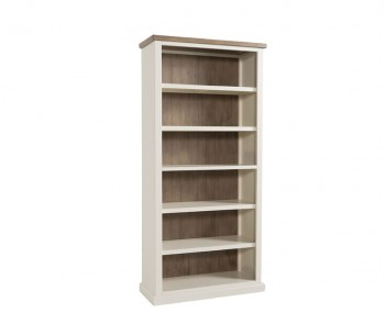 Santorini Solid Pine Hand Painted Large Bookcase