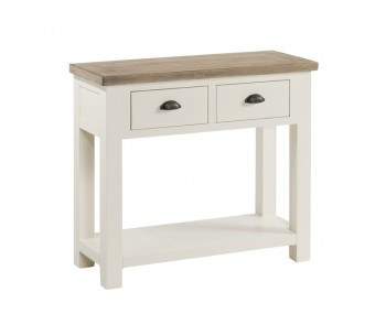 Santorini Solid Pine Hand Painted Large Console Table