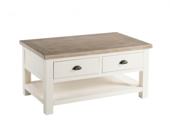 Santorini Solid Pine Hand Painted Coffee Table