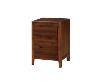 Dunmore Acacia 3 Drawer Bedside Chest