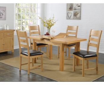Newbridge Solid Oak 120cm Extending Dining Set