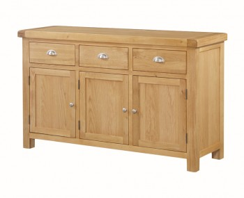 Newbridge Solid Oak 3 Door Sideboard