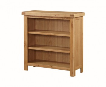 Newbridge Solid Oak Low Wide Bookcase
