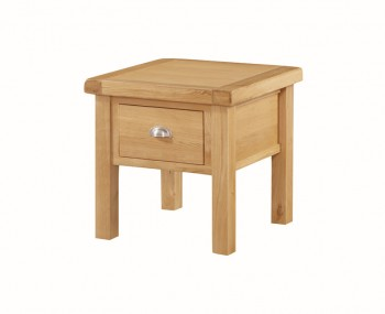 Newbridge Solid Oak 1 Drawer Lamp Table