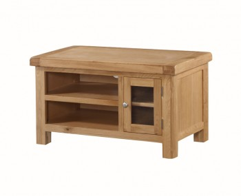 Newbridge Solid Oak 1 Door Small Straight TV Unit