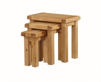 Newbridge Solid Oak Nest of 3 Tables