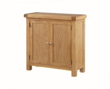 Newbridge Solid Oak 2 Door Narrow Sideboard Unit